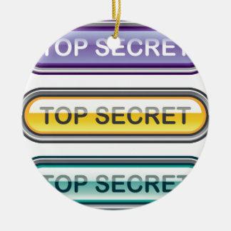 Top Secret Glossy Button Round Ceramic Decoration