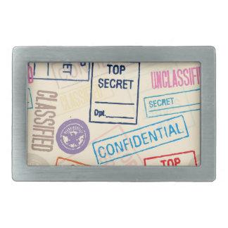 Top Secret - Go Away! Belt Buckle