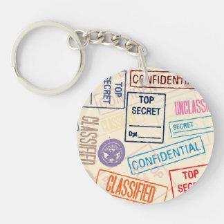 Top Secret - Go Away! Single-Sided Round Acrylic Keychain