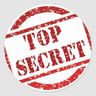Top Secret image Round Sticker
