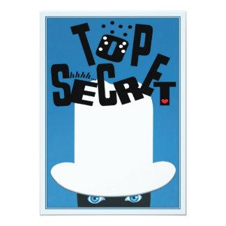 Top Secret © 13 Cm X 18 Cm Invitation Card