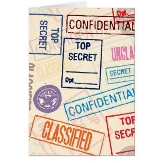 Top Secret - Keep Out Card
