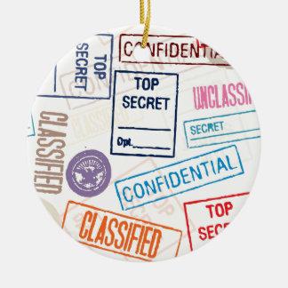 Top Secret - Keep Out Christmas Tree Ornaments