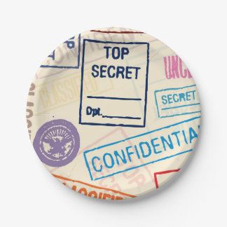 Top Secret - Keep Out Paper Plate