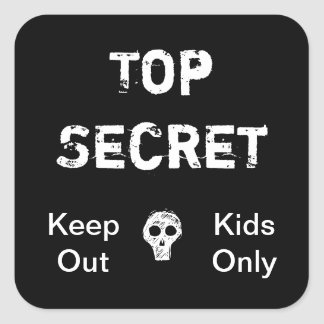 Top Secret Kids Square Sticker