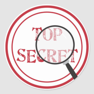 Top Secret Party Sticker