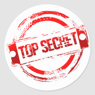 Top Secret Round Sticker