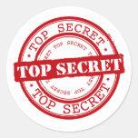 Top Secret Round Stickers