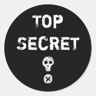 Top Secret Scull Sticker