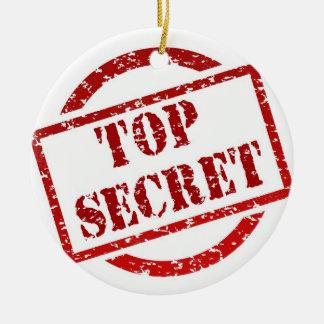 Top Secret Stamp Circle Ornament