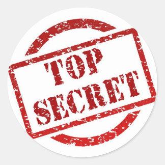 Top Secret Stamp Classic Round Sticker, Glossy Round Sticker