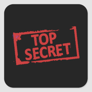 Top Secret Stamp Square Sticker