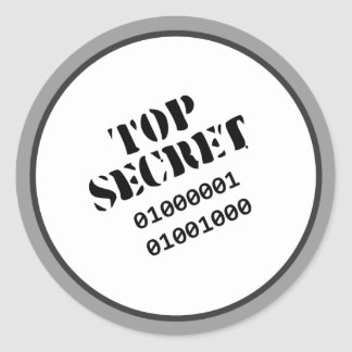 Top Secret stickers © Angel Honey, 2009