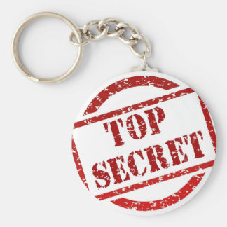 Top Secret supper Image Basic Round Button Key Ring