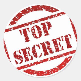 Top Secret supper Image Classic Round Sticker