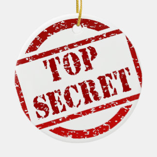 Top Secret supper Image Round Ceramic Decoration