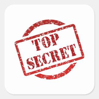 Top Secret supper Image Square Sticker