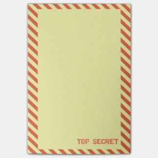 Top Secret Yellow 4x6 Post-it Notes