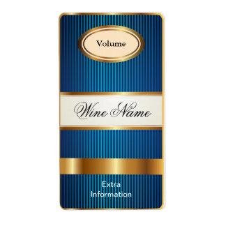 Top Shelf Blue Wine Label Shipping Label