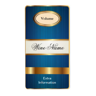 Top Shelf Blue Wine Label Shipping Label