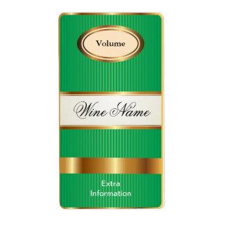 Top Shelf Green Wine Label Shipping Label