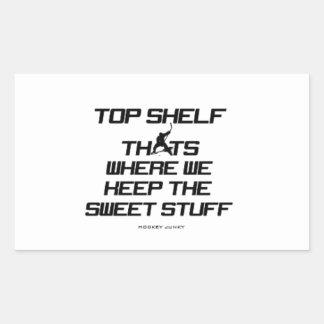 TOP SHELF RECTANGULAR STICKER