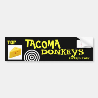 "TOP SHELF ""TACOMA DONKEYS"" BUMPER STICKER"