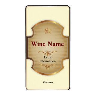 Top Shelf White Wine Label