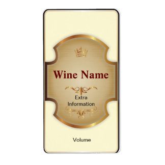 Top Shelf White Wine Label Shipping Label