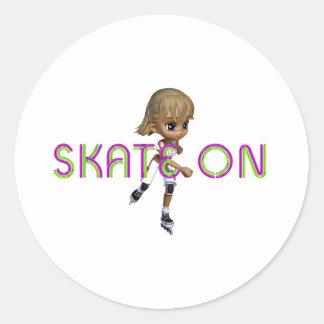 TOP Skate On Round Sticker