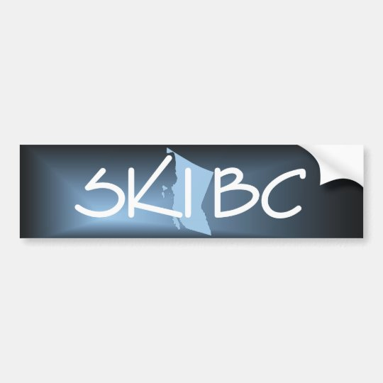 TOP Ski British Columbia Bumper Sticker