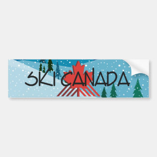 TOP Ski Canada Bumper Sticker
