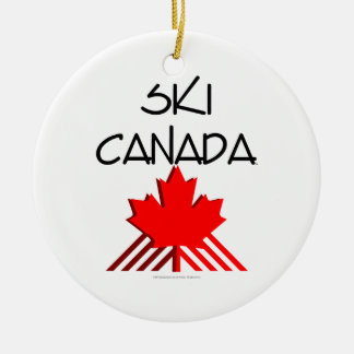 TOP Ski Canada Christmas Ornament