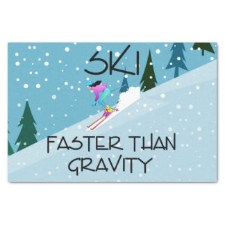 TOP Ski Faster Tissue Paper