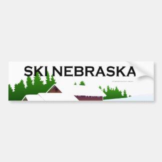 TOP Ski Nebraska Bumper Sticker