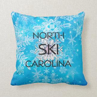 TOP Ski North Carolina Throw Pillow