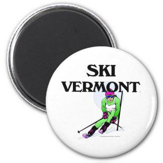 TOP Ski Vermont 6 Cm Round Magnet