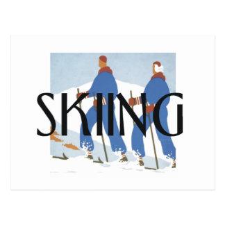 TOP Skiing Postcard