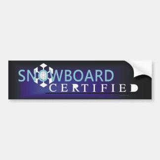 TOP Snowboard Certified Bumper Stickers