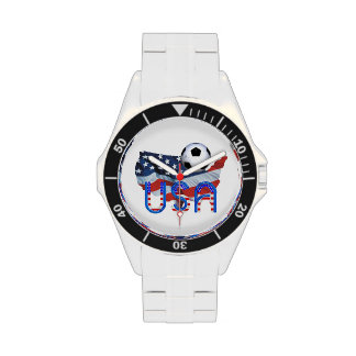 TOP Soccer in the USA Wrist Watch