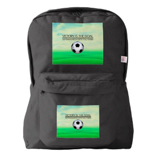 TOP Soccer Victory Slogan Backpack