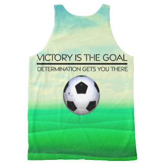 TOP Soccer Victory Slogan All-Over Print Tank Top
