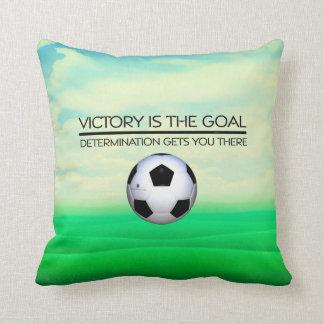 TOP Soccer Victory Slogan Throw Cushion