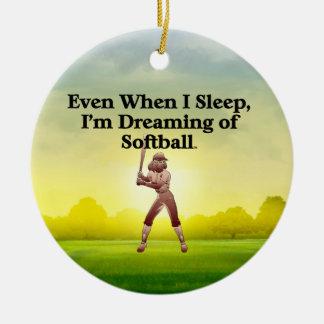 TOP Softball Dreams Christmas Ornament