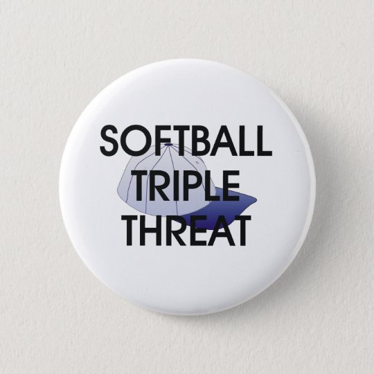TOP Softball Triple Threat 6 Cm Round Badge
