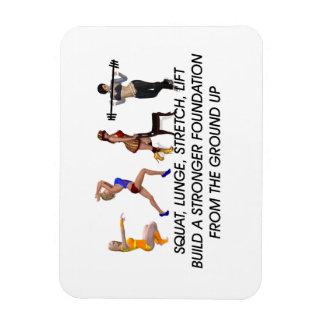 TOP Squat Slogan Flexible Magnet