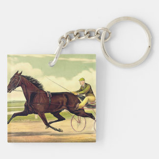TOP Sulky Champ Double-Sided Square Acrylic Keychain