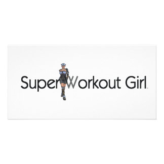 TOP Super Workout Girl Photo Card Template