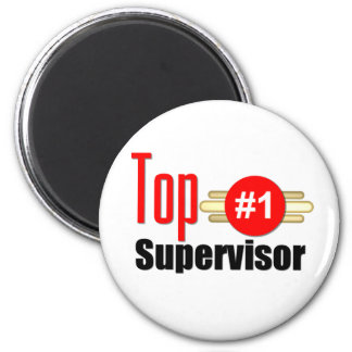 Top Supervisor 6 Cm Round Magnet