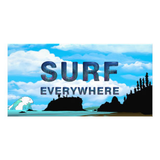 TOP Surf Everywhere Personalized Photo Card